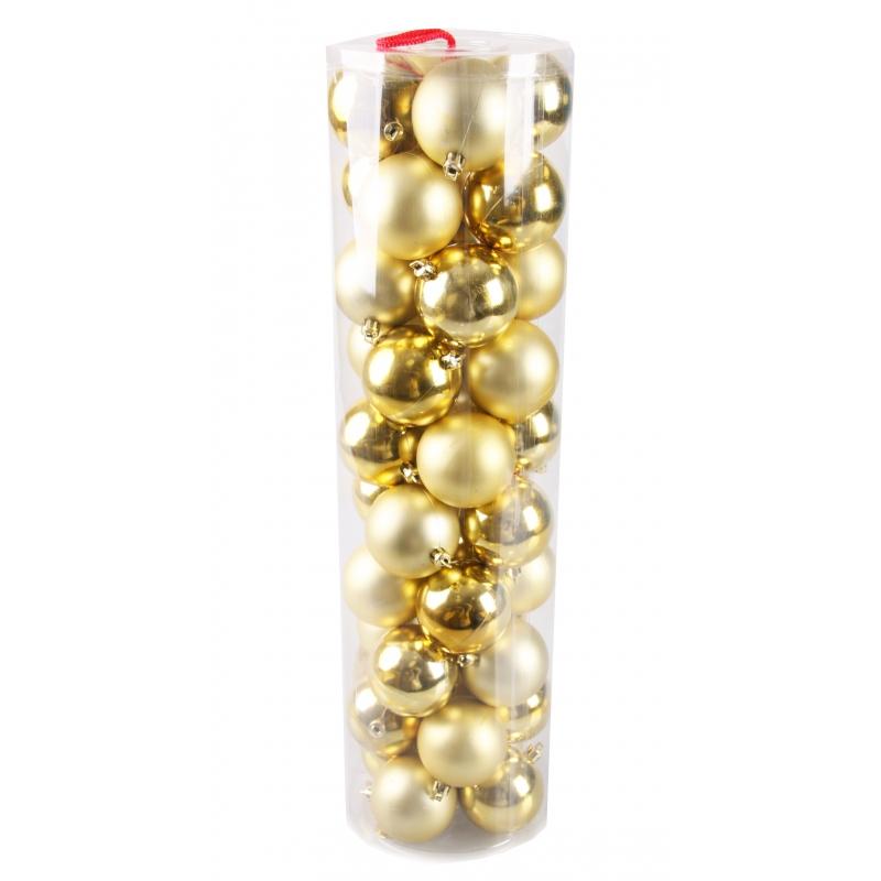 40 gouden kerstballen van plastic