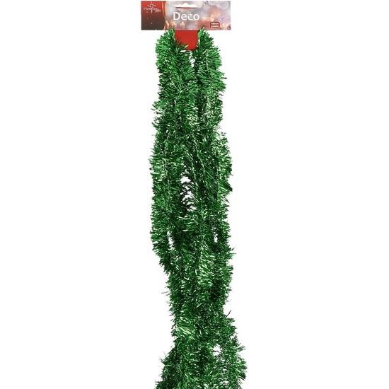 Dunne groene folie slinger 500 x 5 cm