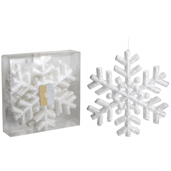 Glitter sneeuwvlok 3 stuks 20 cm