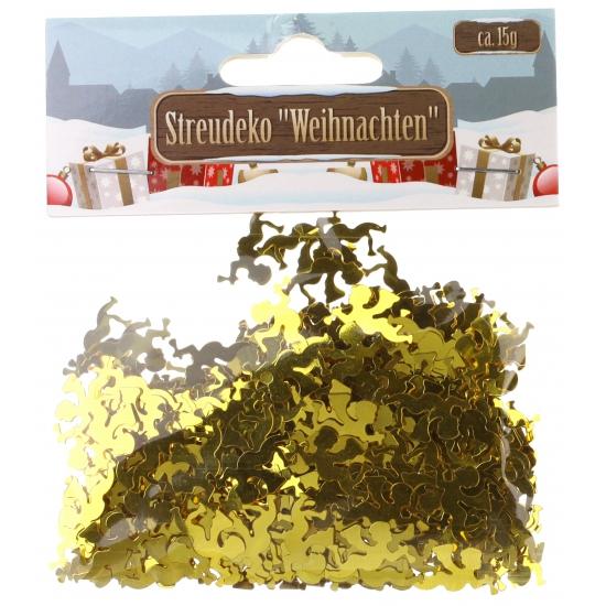 Kerst Confetti gouden engeltjes 15 gram