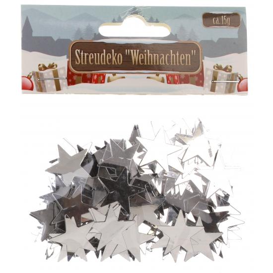 Kerst Confetti zilveren sterretjes 15 gram