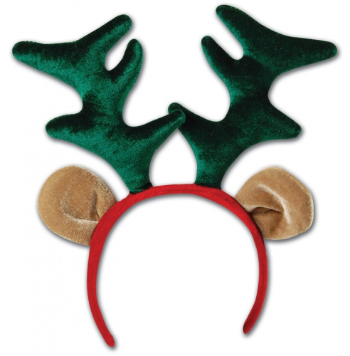 Kerst diadeem met rendier gewei