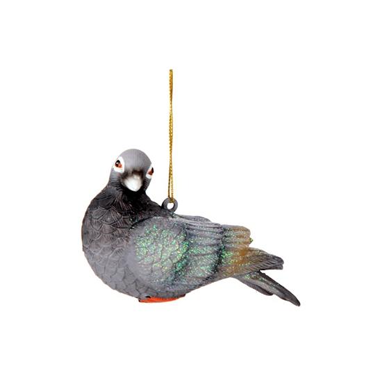 Kerst Hangdecoratie duif 11 cm
