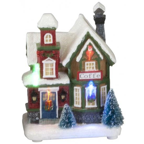 Kerst koffie huisje met LED