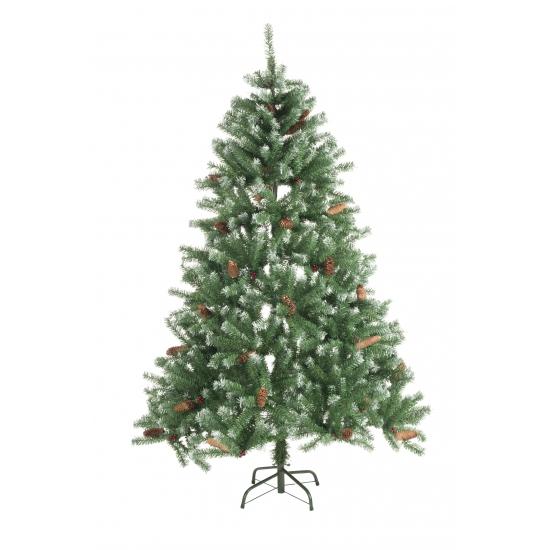 Kerst kunstboom met dennenappels 150 cm