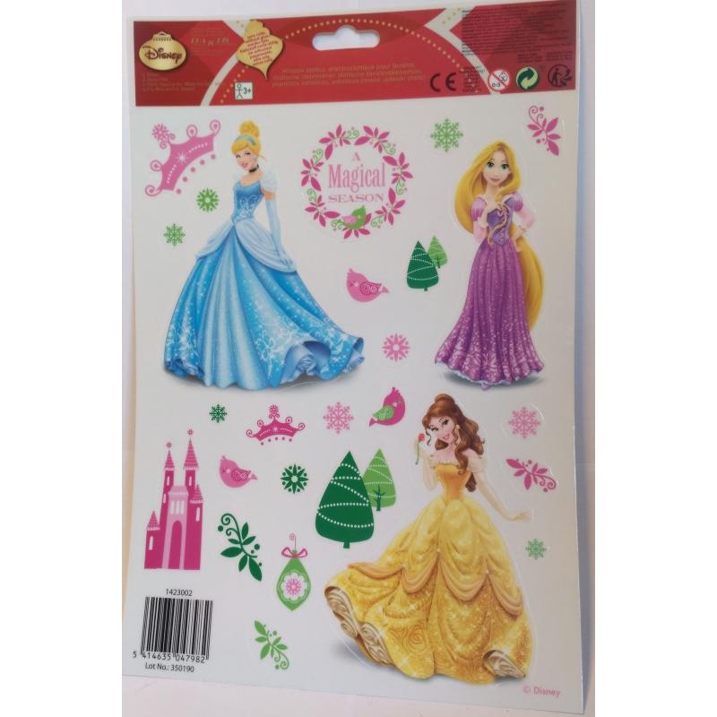 Kerst raamstickers Disney Princess