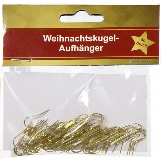 Kerstbalhaakje goud 50 stuks