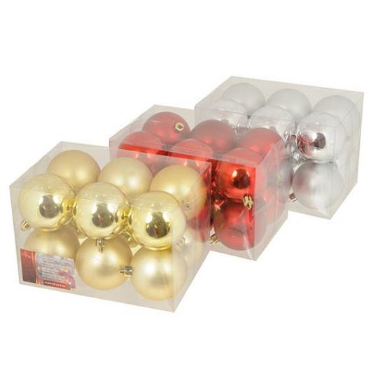 Kerstballen set 6 cm 12 stuks