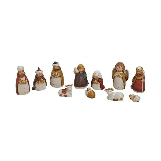 Kerststal figuren van porselein 11x