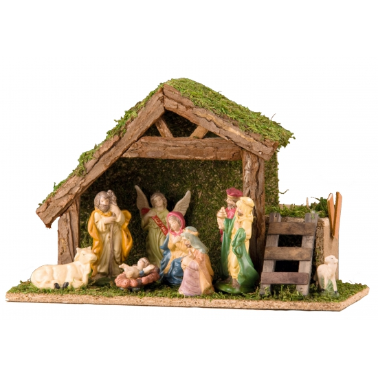 Kerststal met figuren 20 cm