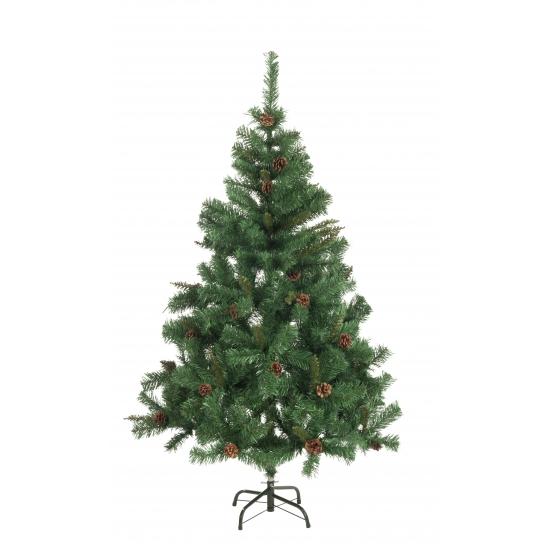 Kunst kerstboom met dennenappels 180 cm