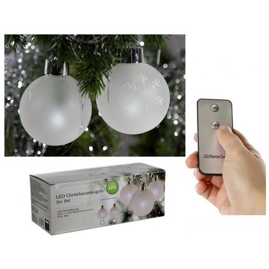 Lichtgevende kerstballen 3 stuks