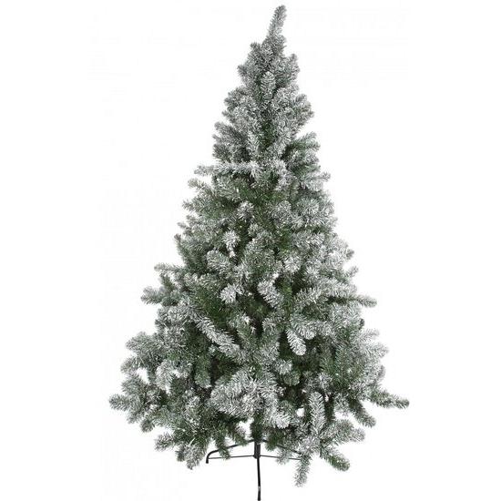 Luxe kerstboom met sneeuw 210 cm