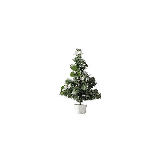 Mini kerstboompje zilver 36 cm