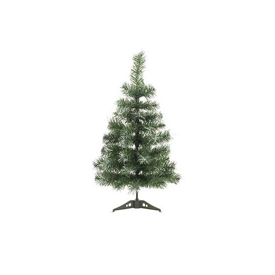Mini kunst kerstboom met wit 60 cm