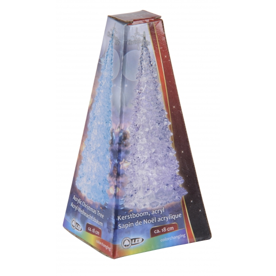 Piramide LED licht kerstboom 18 cm