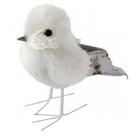 Decoratie vogel met glitters12 cm type 3