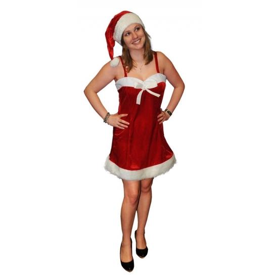 Fluwelen kerstjurkje voor dames