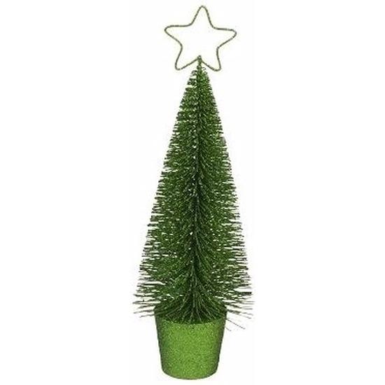 Glitter kerstboompje groen 30 cm