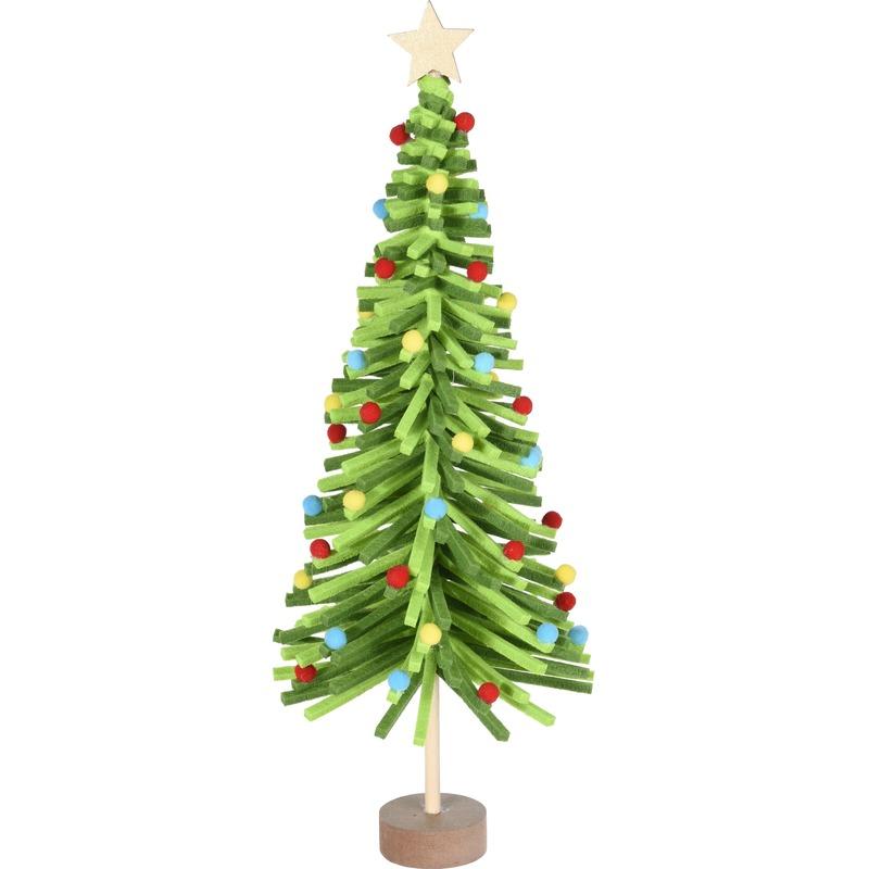 Groen vilten kerstboompje decoratie 45 cm