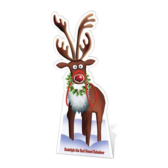 Groot decoratie bord rendier Rudolph