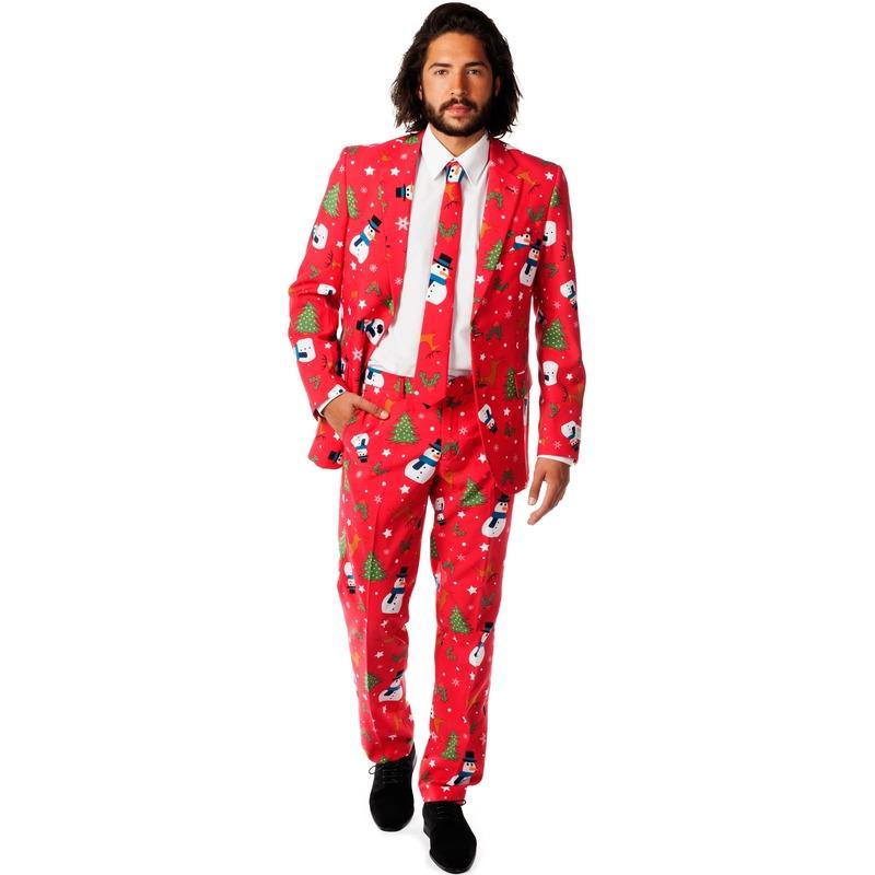 Heren kostuum met kerst print
