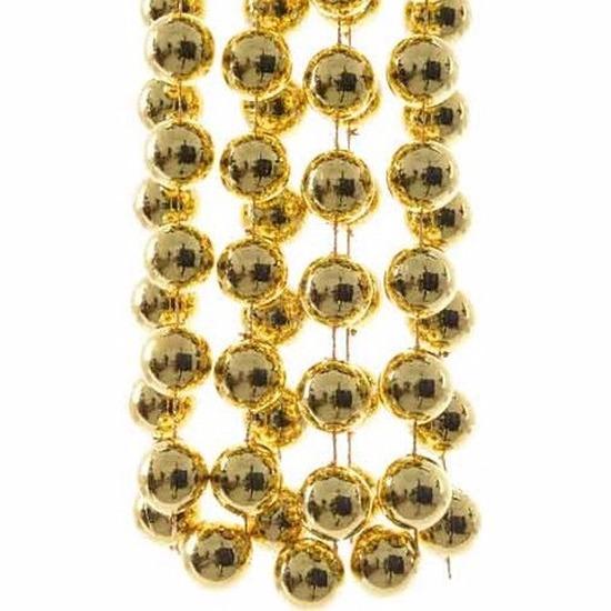 Kerst gouden XXL kralenslinger Christmas Gold 270 cm
