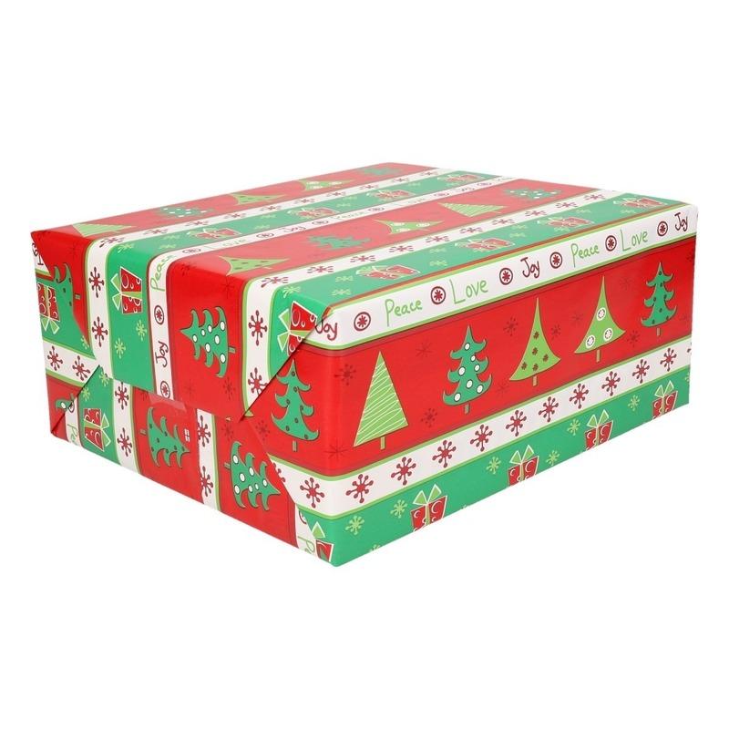 Kerst inpakpapier 200 x 70 cm op rol print 9