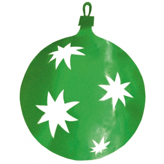 Kerstballen hangdecoratie groen 40 cm
