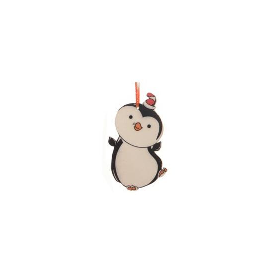 Kerstboom decoratie pinguin 12 cm