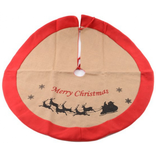 Kerstboom kleed katoen rood