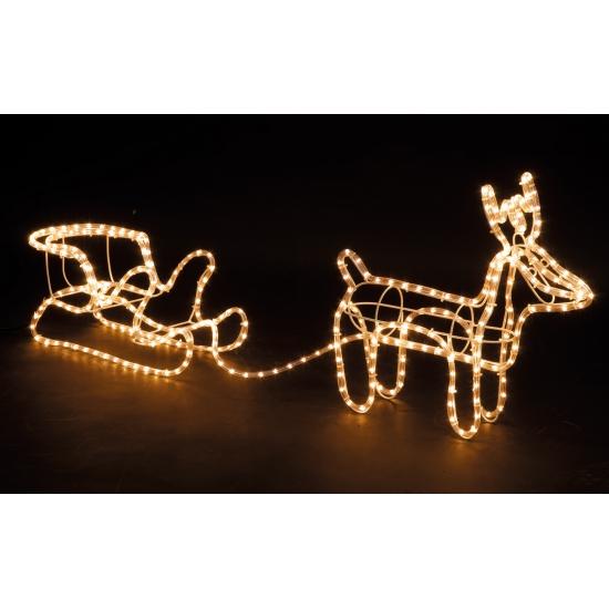 Kerstverlichting rendier met slee 47 cm voor kerst bestellen, Kerst ...