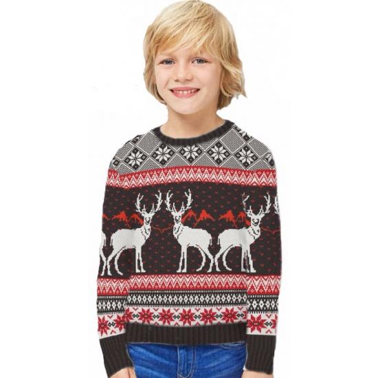 Kinder kersttrui Happy Reindeers