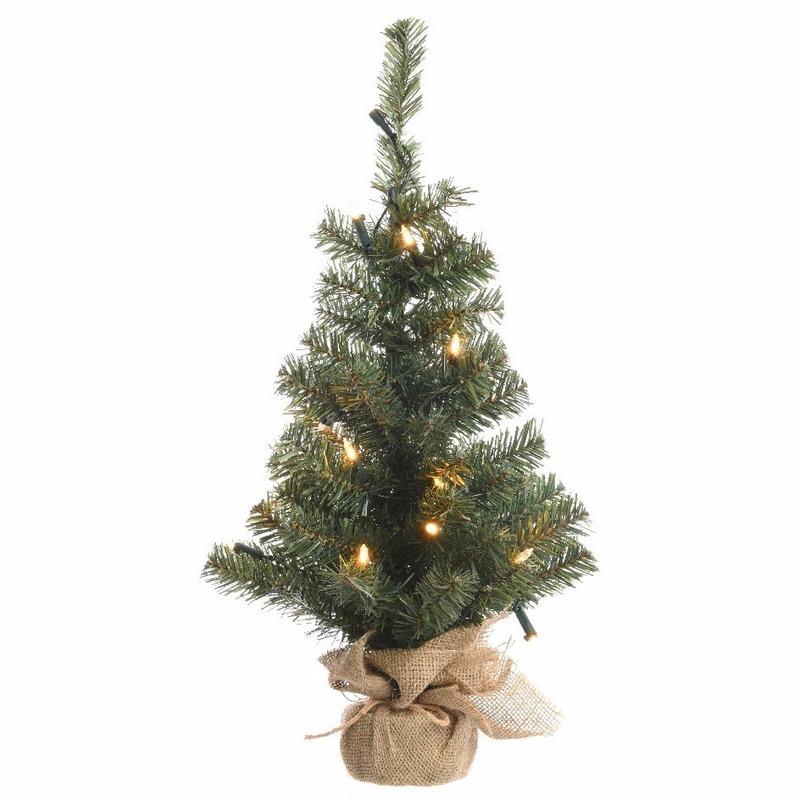 Kunst kerstboom groen met warm witte verlichting 75 cm voor kerst ...