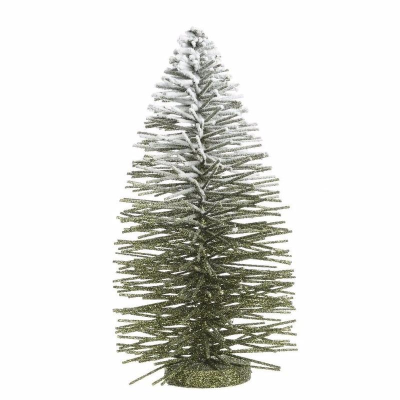 Kunst kerstboom met besneeuwde top 35 cm