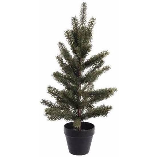 Kunst kerstboomp groen in pot 60 cm