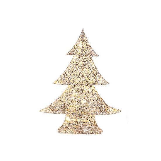 LED kerstboom zilvergoud 48 cm