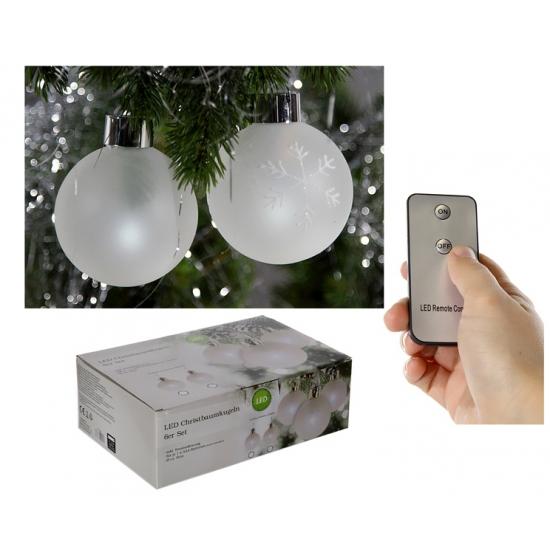 Lichtgevende kerstballen 6 stuks