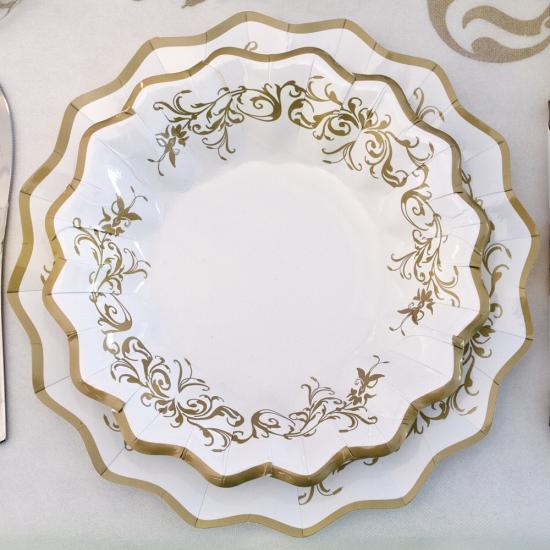 Luxe bordjes goud 27 cm