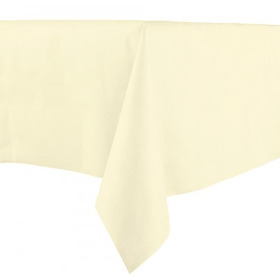 Luxe papieren tafelkleed creme 140 x 240 cm