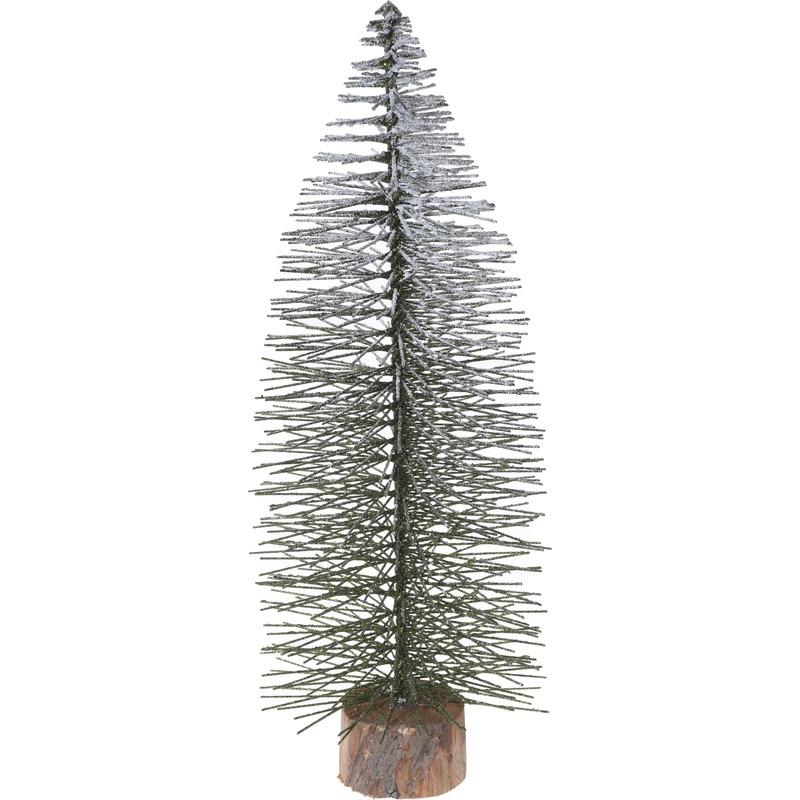 Mini kunst kerstboom besneeuwd 55 cm