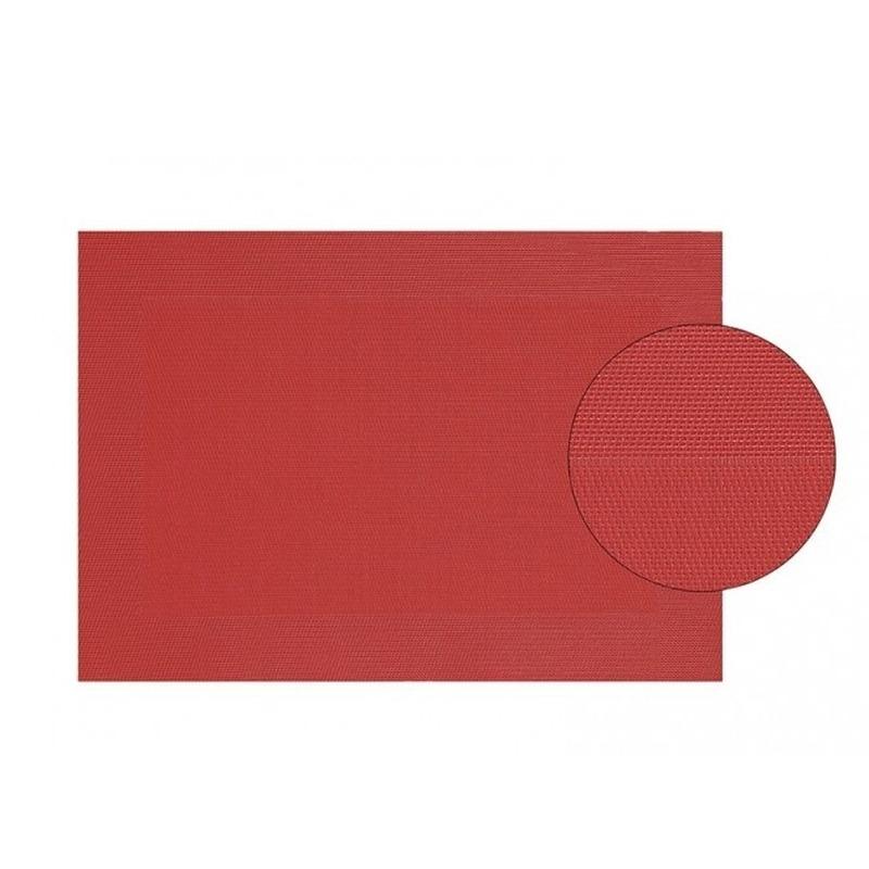 Placemat gevlochten rood 45 x 30 cm
