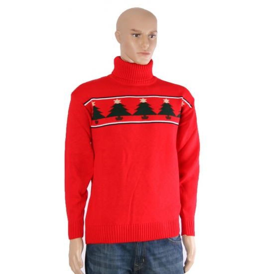 Rode kerst ski trui