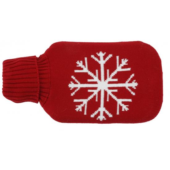 Rode kruik met sneeuwvlok