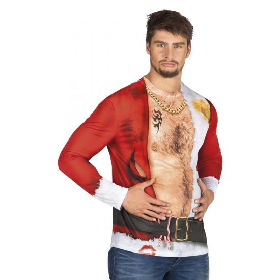 Shirt aso kerstman opdruk heren