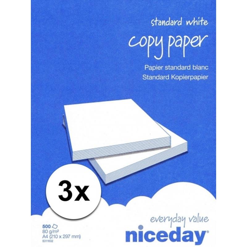 Voordelig wit A4 papier 1500 vellen 80 grams