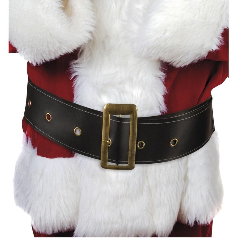 Zwarte kerstman riem