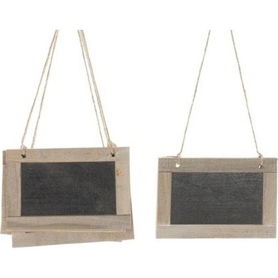 10x Krijtbord hangers etiketten/labels 15 x 10 cm