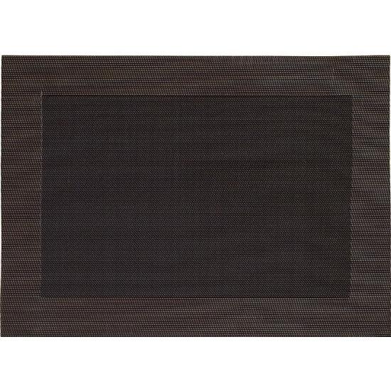 1x Placemat donkerbruin geweven/gevlochten met rand 45 x 30 cm