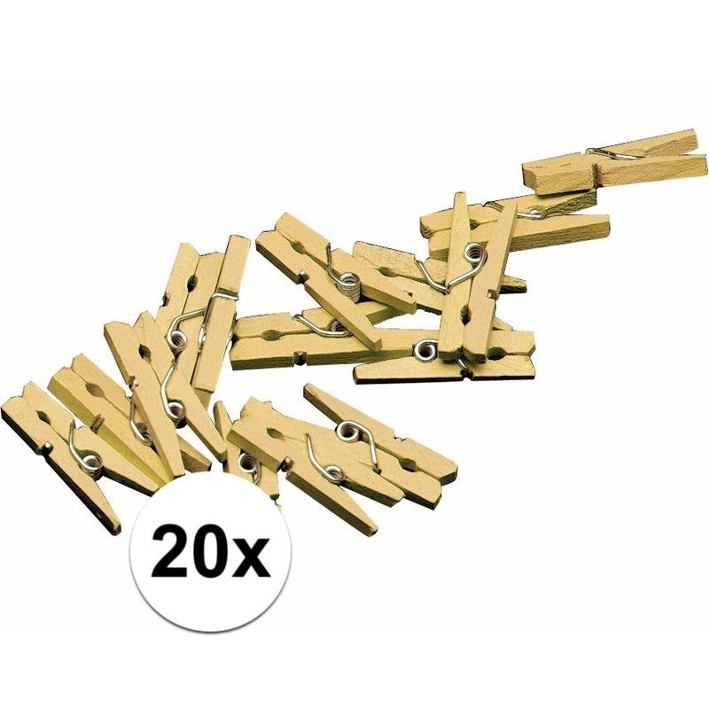 20x mini knijpertjes goud